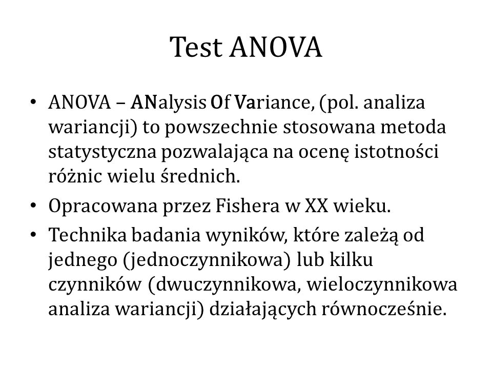 Test ANOVA