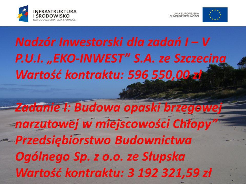 Nadzór Inwestorski dla zadań I – V