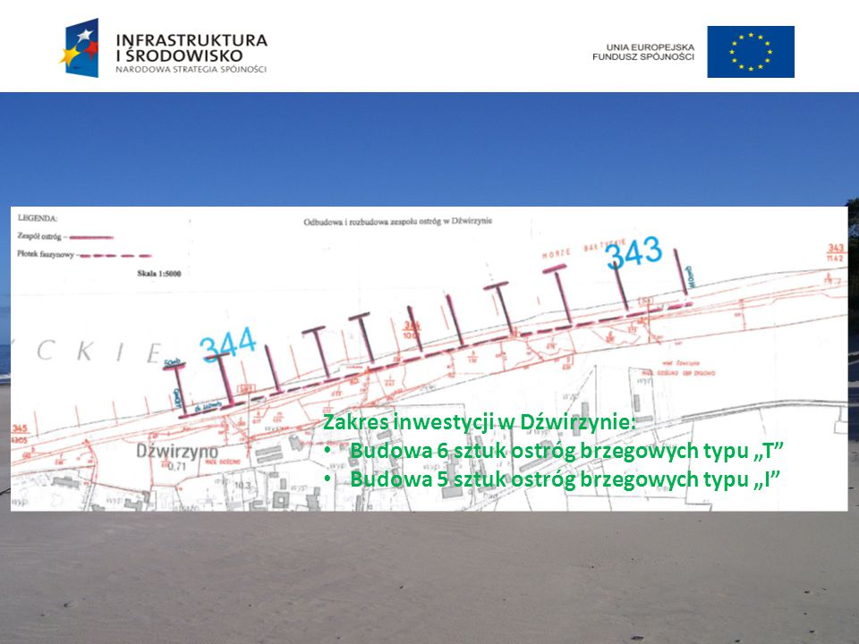 Zakres inwestycji w Dźwirzynie: