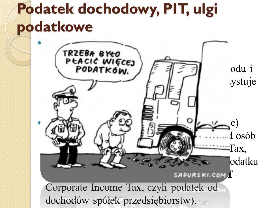 Podatek dochodowy, PIT, ulgi podatkowe