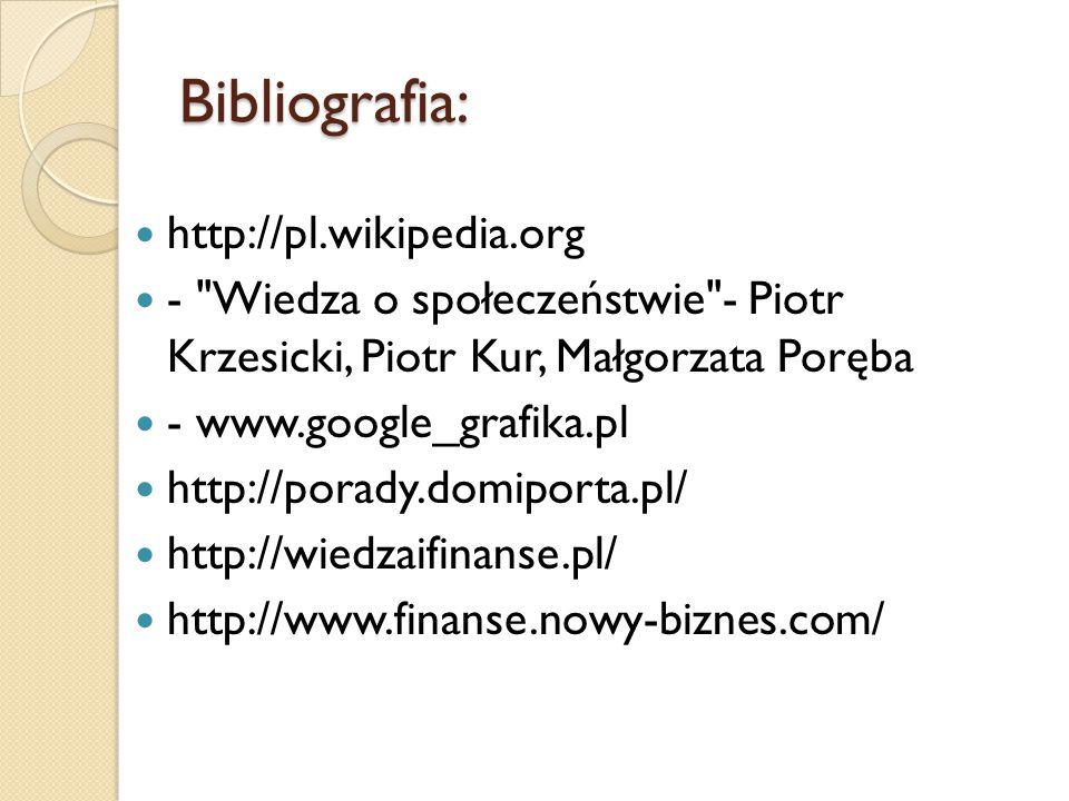 Bibliografia: http://pl.wikipedia.org