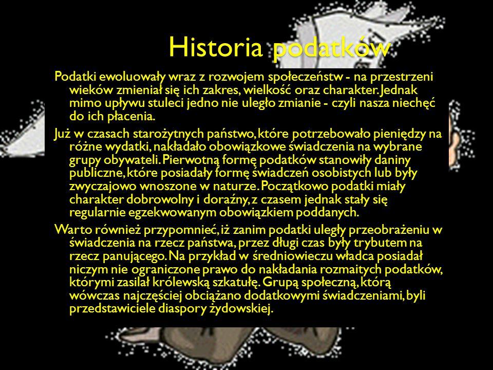Historia podatków