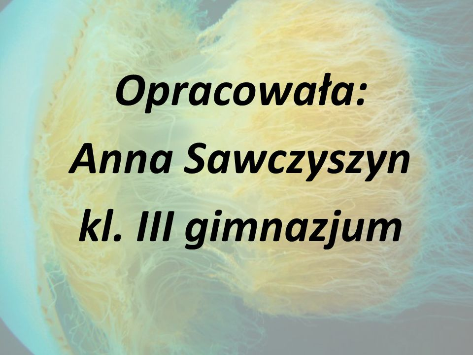 Opracowała: Anna Sawczyszyn kl. III gimnazjum