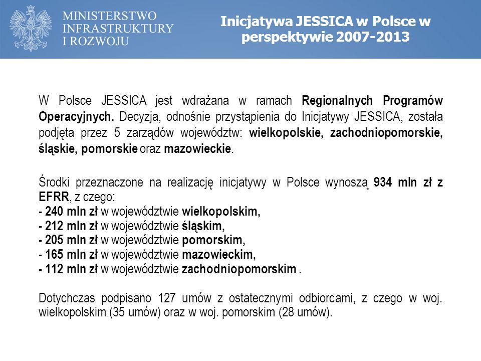 Inicjatywa JESSICA w Polsce w perspektywie 2007-2013