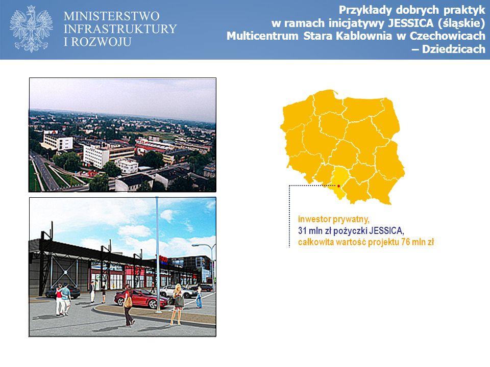 Przykłady dobrych praktyk w ramach inicjatywy JESSICA (śląskie) Multicentrum Stara Kablownia w Czechowicach – Dziedzicach