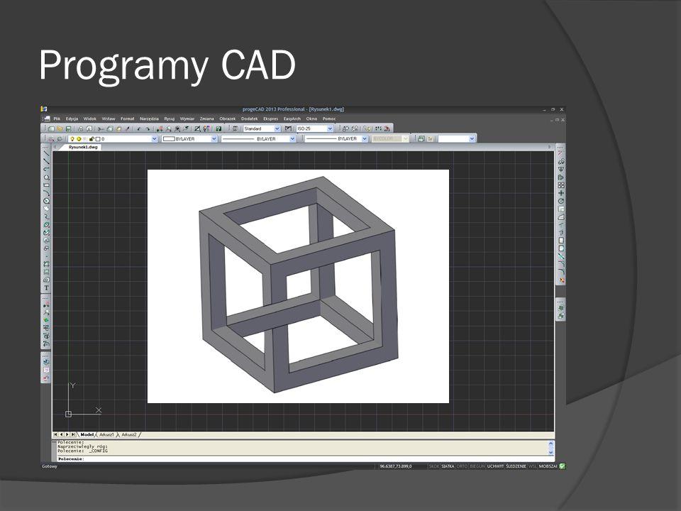 Programy CAD 2D/3D 3D AutoCAD Bricscad ZWCAD progeCAD