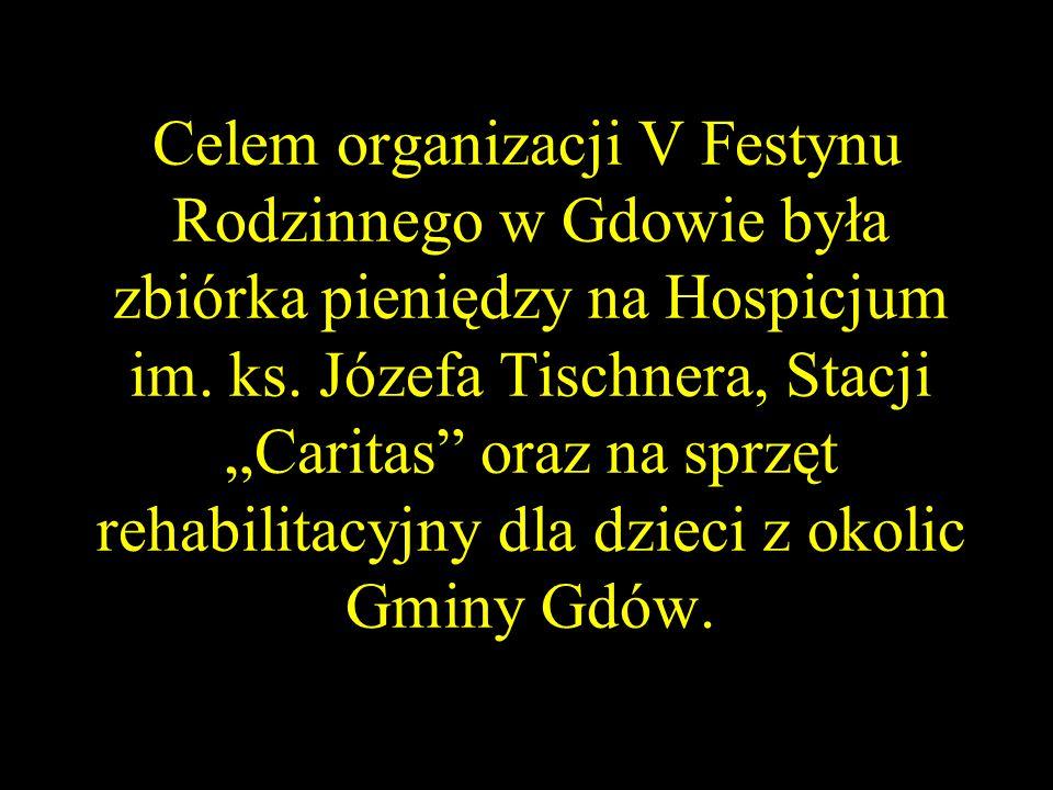 Celem organizacji V Festynu Rodzinnego w Gdowie była zbiórka pieniędzy na Hospicjum im.
