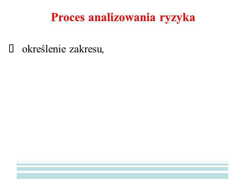 Proces analizowania ryzyka
