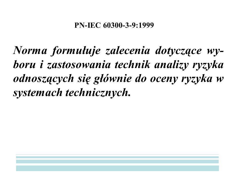 PN-IEC 60300-3-9:1999