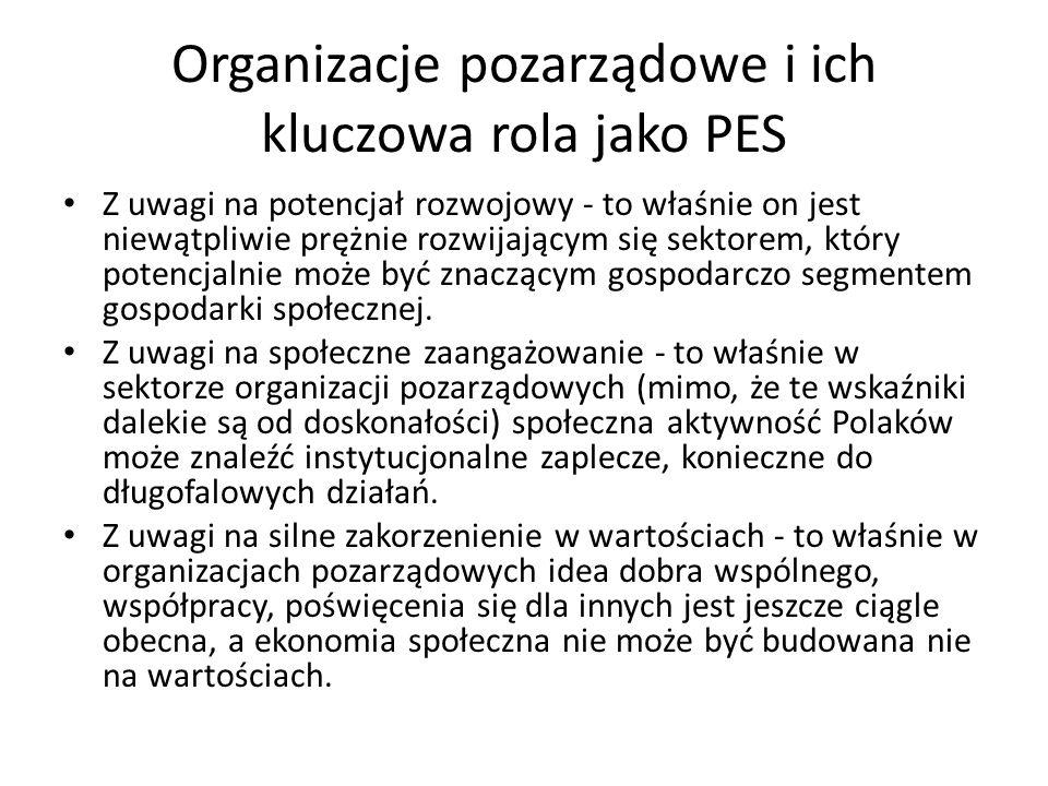 Organizacje pozarządowe i ich kluczowa rola jako PES