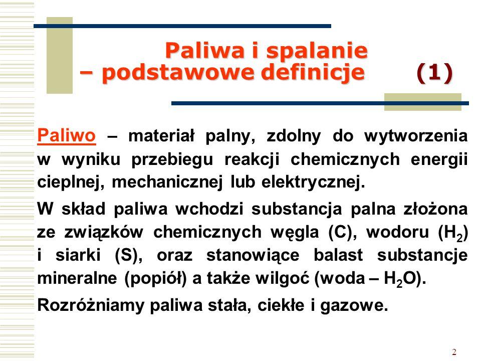 Paliwa i spalanie – podstawowe definicje (1)