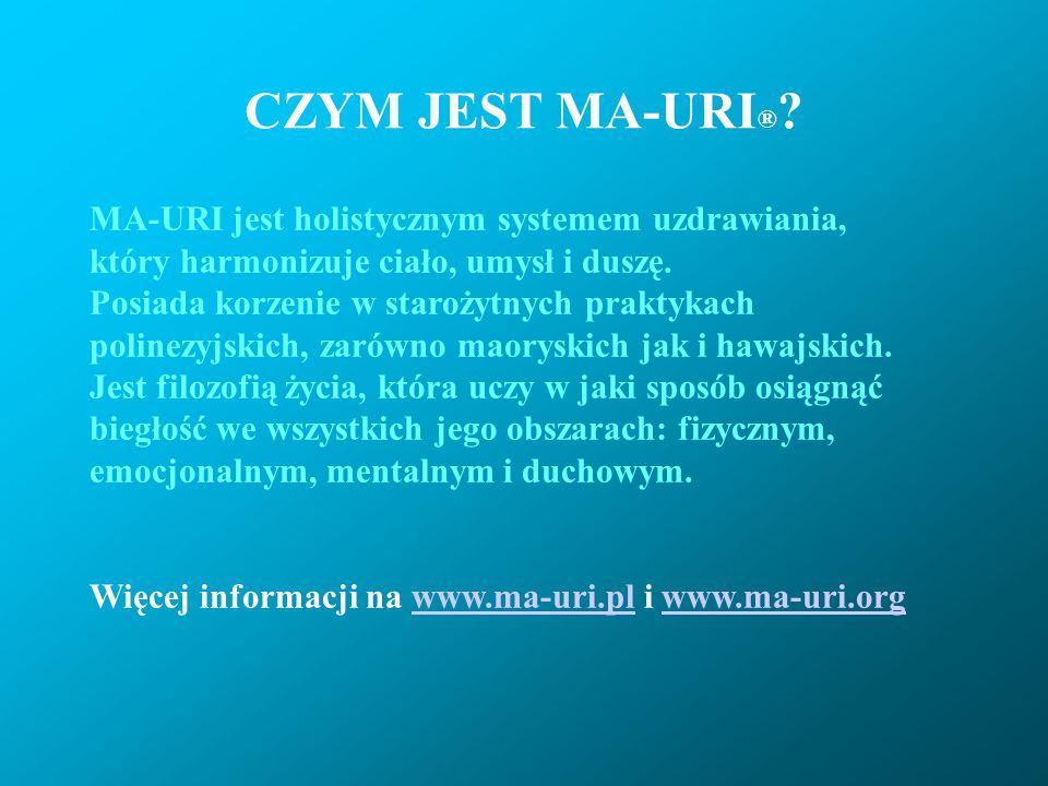 CZYM JEST MA-URI® MA-URI jest holistycznym systemem uzdrawiania,