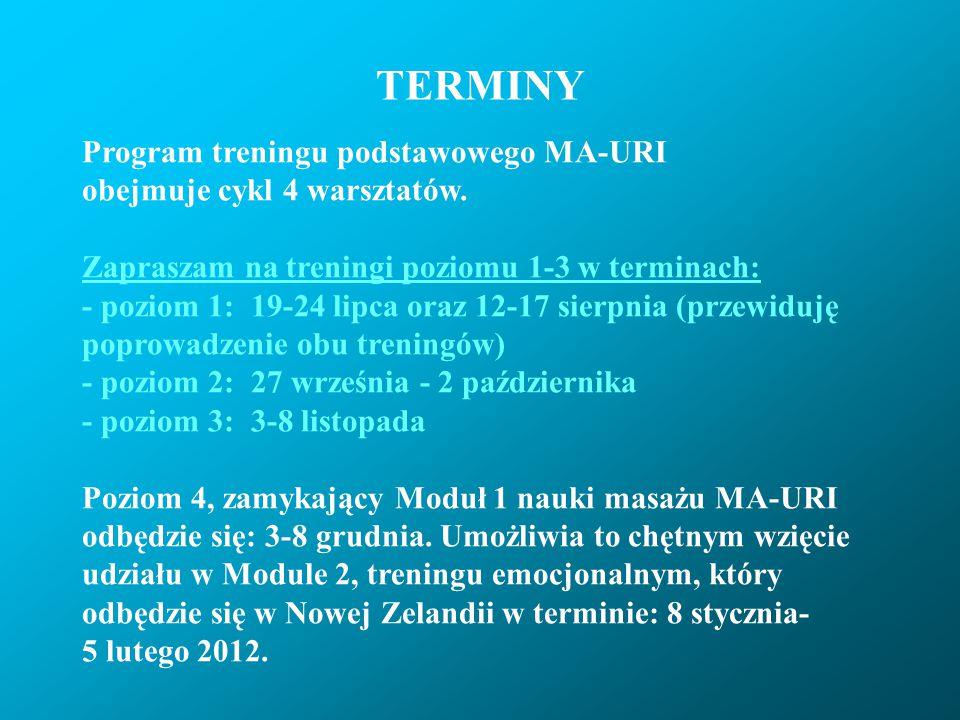 TERMINY Program treningu podstawowego MA-URI