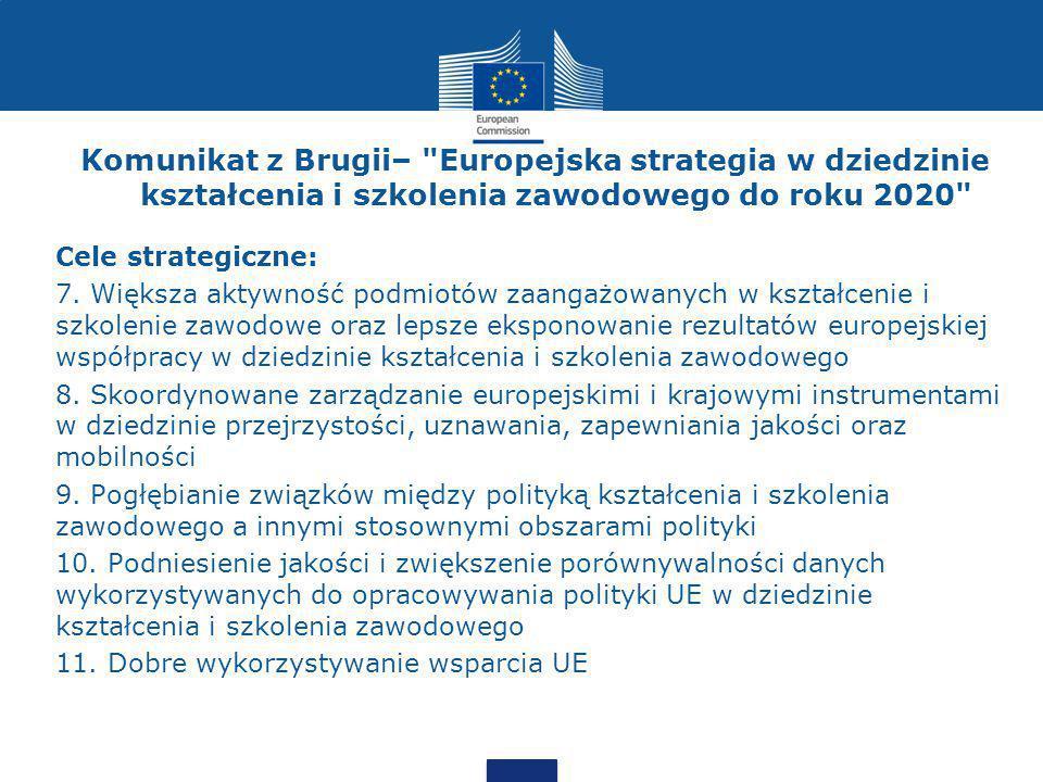 Komunikat z Brugii– Europejska strategia w dziedzinie kształcenia i szkolenia zawodowego do roku 2020