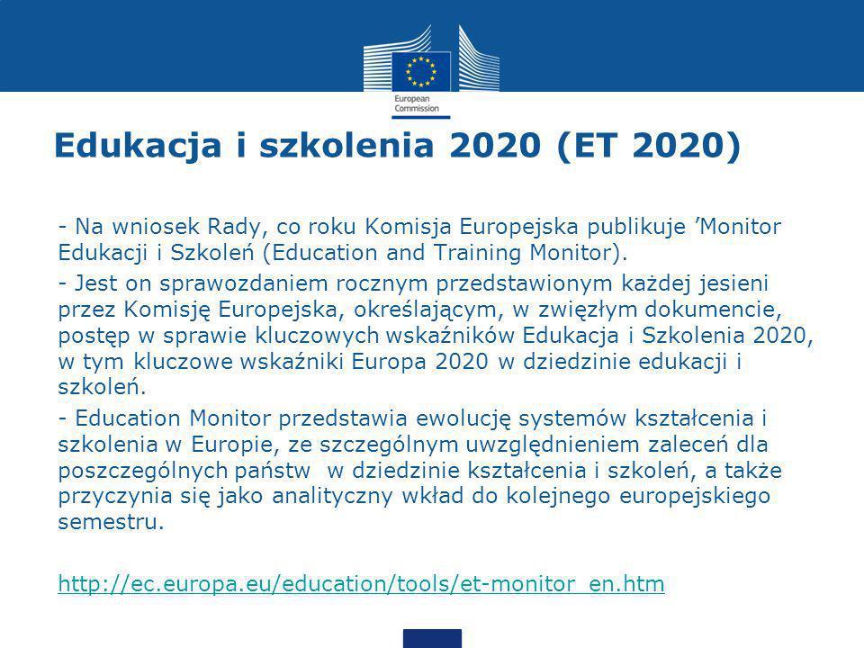 Edukacja i szkolenia 2020 (ET 2020)