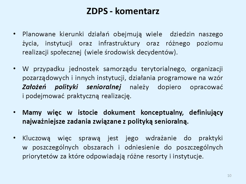 ZDPS - komentarz