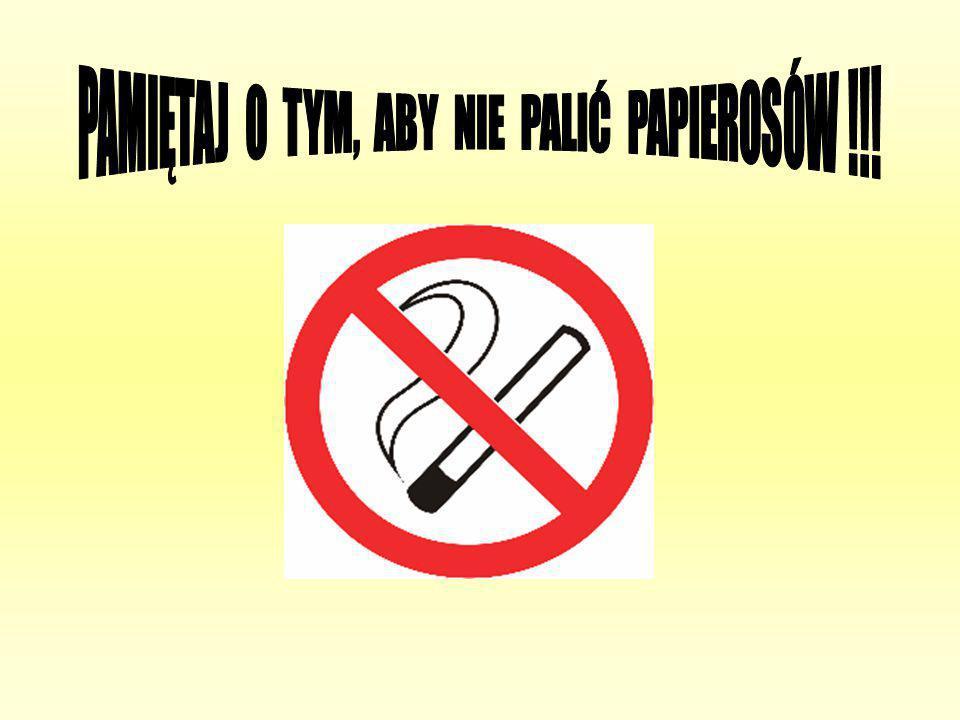 PAMIĘTAJ O TYM, ABY NIE PALIĆ PAPIEROSÓW !!!