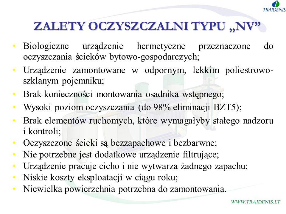"ZALETY OCZYSZCZALNI TYPU ""NV"