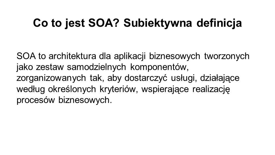 Co to jest SOA Subiektywna definicja