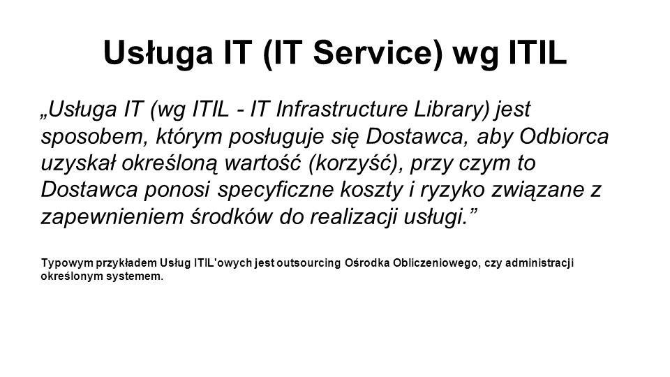 Usługa IT (IT Service) wg ITIL