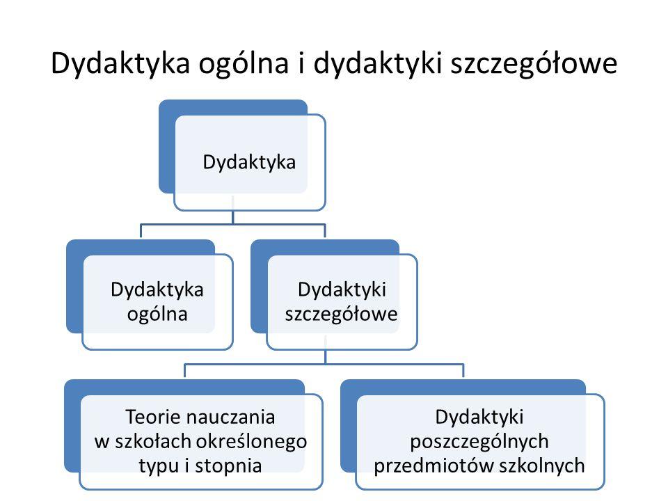 Dydaktyka ogólna i dydaktyki szczegółowe