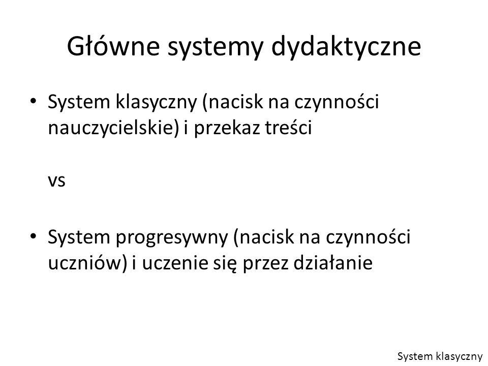 Główne systemy dydaktyczne