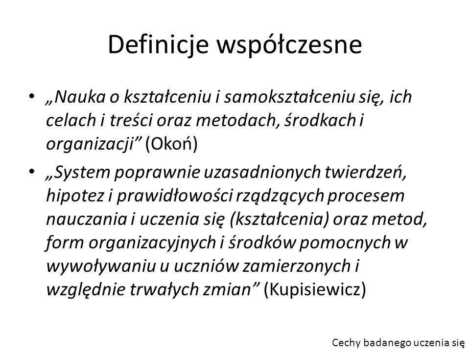 Definicje współczesne