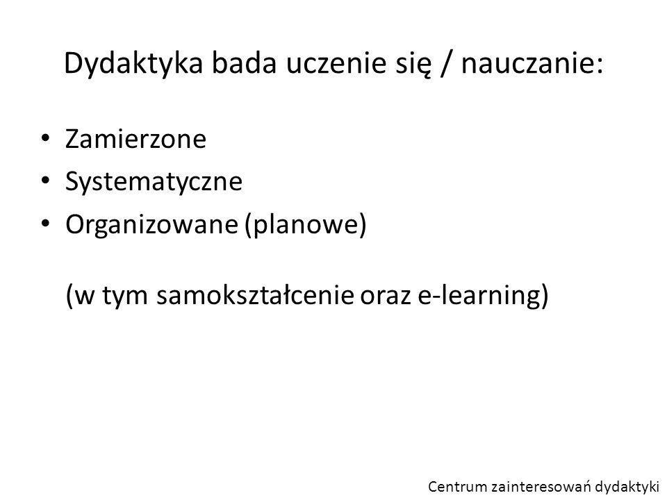 Dydaktyka bada uczenie się / nauczanie: