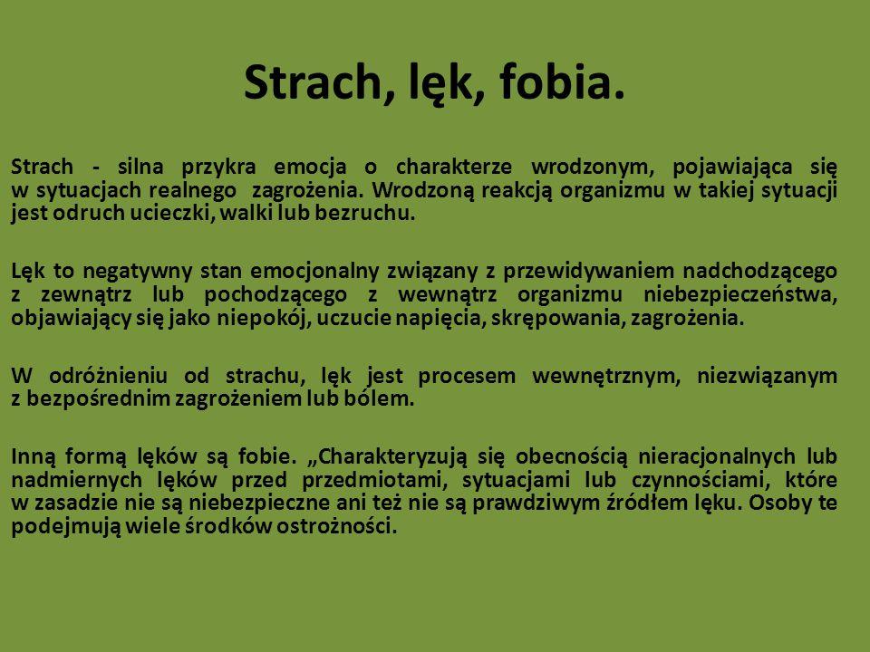 Strach, lęk, fobia.