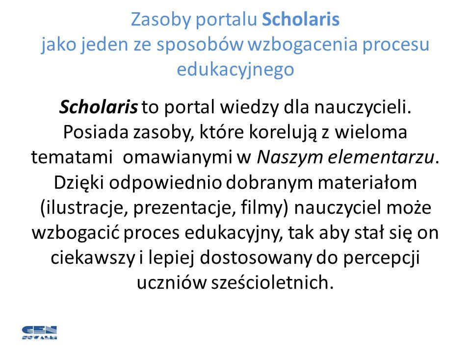 Zasoby portalu Scholaris jako jeden ze sposobów wzbogacenia procesu edukacyjnego