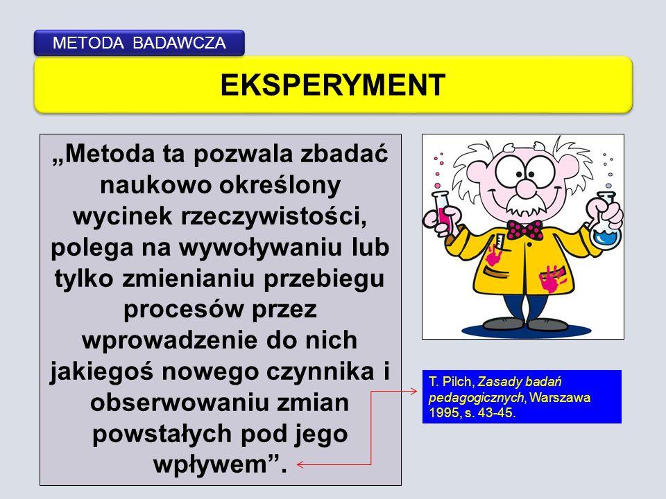 METODA BADAWCZA EKSPERYMENT.