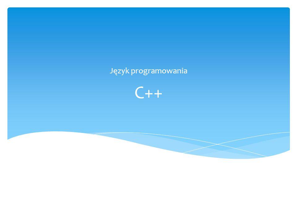 Język programowania C++