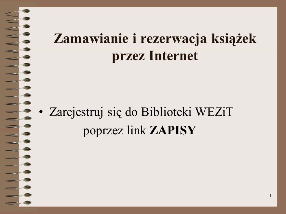 Zamawianie i rezerwacja książek przez Internet