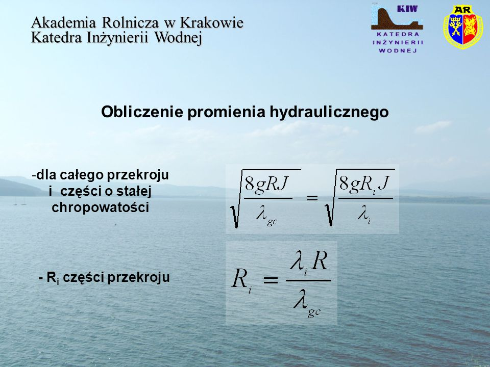 Obliczenie promienia hydraulicznego