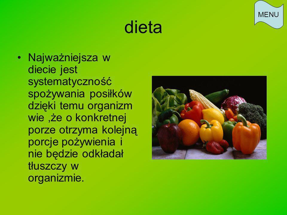 MENU dieta.