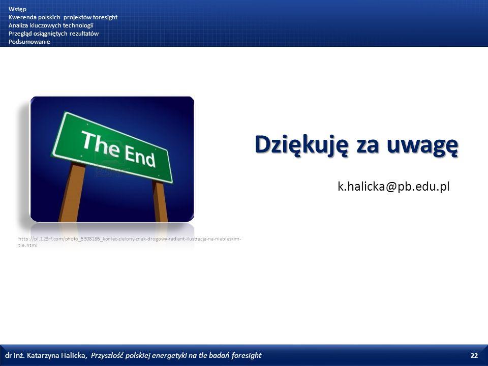 Dziękuję za uwagę k.halicka@pb.edu.pl Wstęp