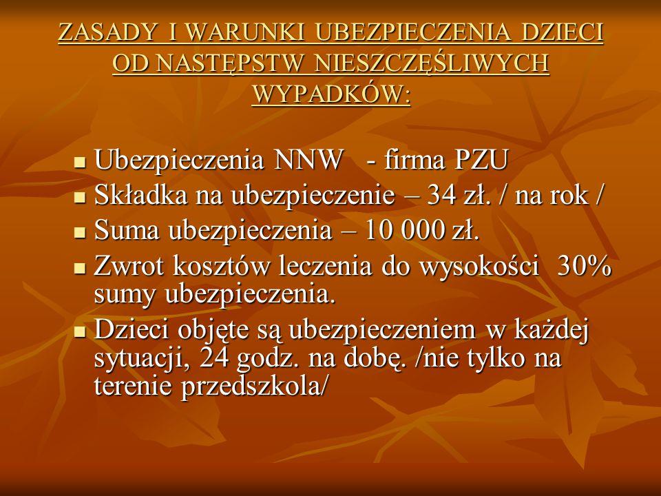 Ubezpieczenia NNW - firma PZU