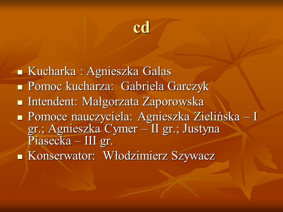 cd Kucharka : Agnieszka Galas Pomoc kucharza: Gabriela Garczyk
