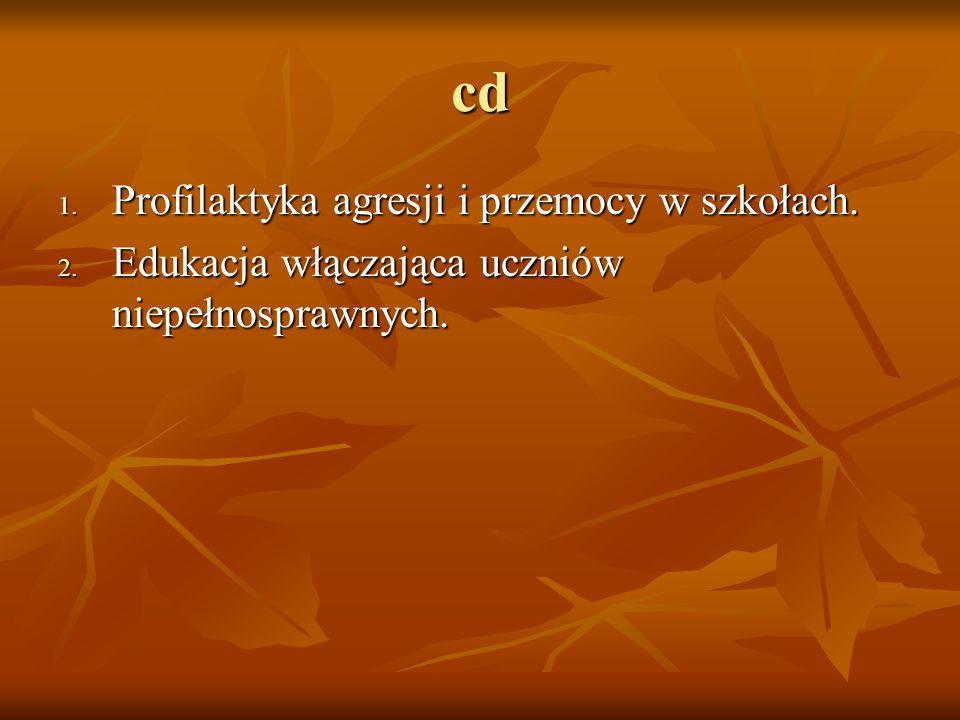 cd Profilaktyka agresji i przemocy w szkołach.