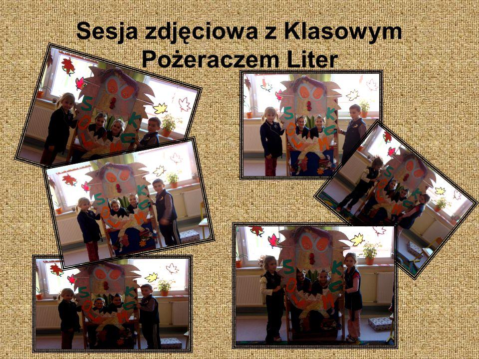 Sesja zdjęciowa z Klasowym Pożeraczem Liter