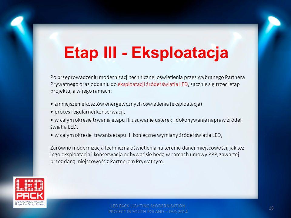 Etap III - Eksploatacja