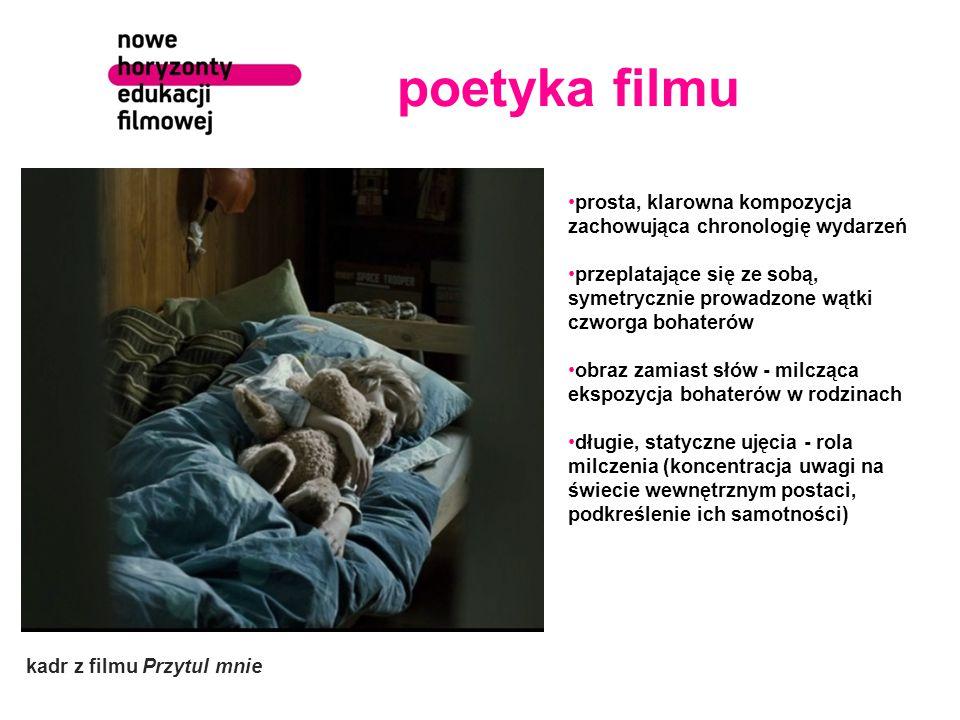 poetyka filmu prosta, klarowna kompozycja zachowująca chronologię wydarzeń.