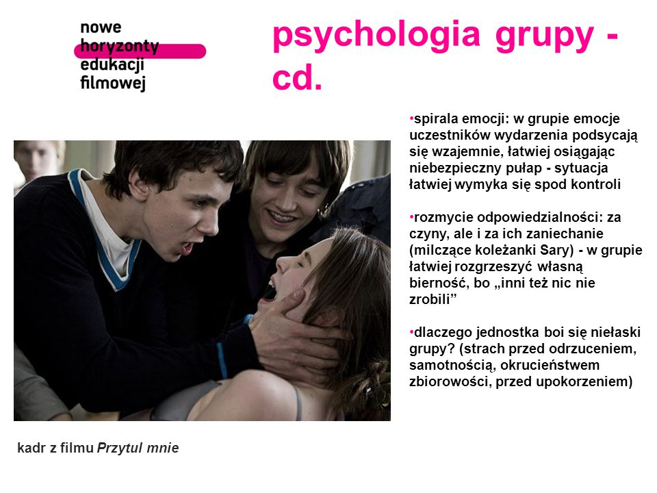 psychologia grupy - cd.