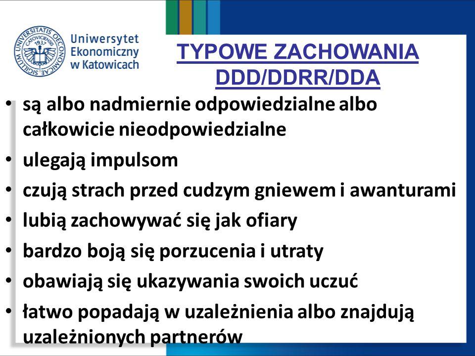 TYPOWE ZACHOWANIA DDD/DDRR/DDA