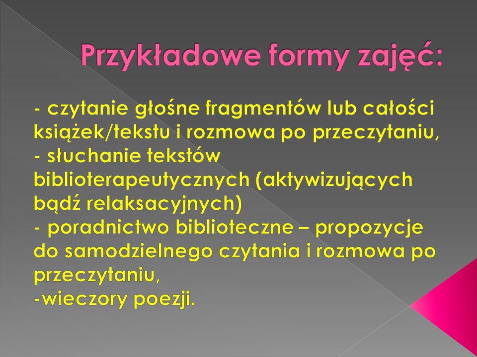 Przykładowe formy zajęć: