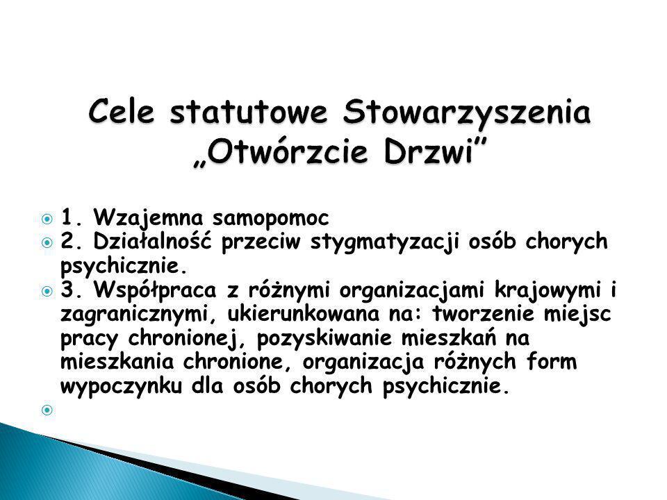 """Cele statutowe Stowarzyszenia """"Otwórzcie Drzwi"""
