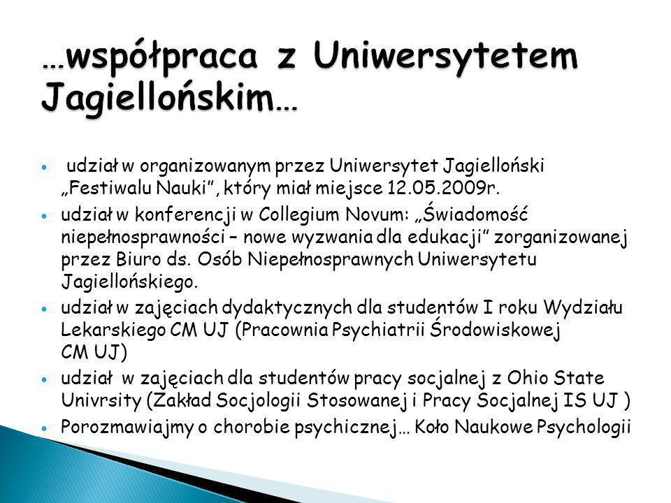 …współpraca z Uniwersytetem Jagiellońskim…