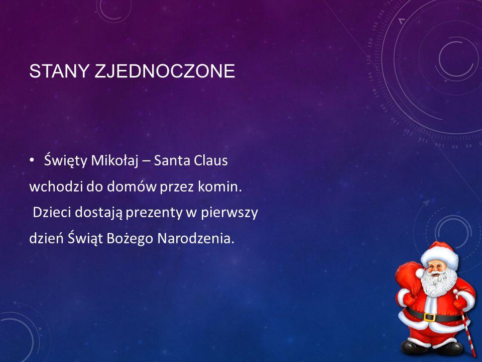 STANY ZJEDNOCZONE Święty Mikołaj – Santa Claus