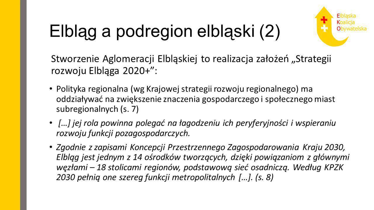 Elbląg a podregion elbląski (2)