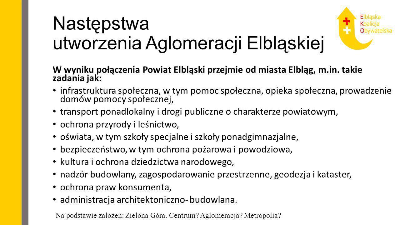 Następstwa utworzenia Aglomeracji Elbląskiej (2)